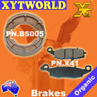 FRONT REAR Brake Pads Shoes SUZUKI TU 250 Grass Tracker Big Boy 123 2000 2001