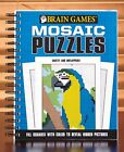 BRAIN GAMES ACTIVITY BOOKS MOSAIC PUZZLES 160 PAGES RING BOUND OPENS NIP
