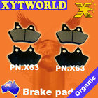 FRONT+REAR Brake Pads HARLEY DAVIDSON FXDBi Street Bob Spoke wheels 2006 2007