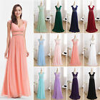 Women V Neck Long Prom Evening Dress Formal Gown Bridesmaid 08697 Ever Pretty