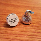 108 Wedding Hershey Kiss Sticker Labels Hugs and Kisses Mr Mrs