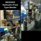 BROOKES 1922 Hydraulic Press Type Tube Bender