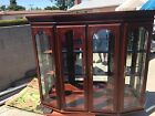 AMERICAN DREW USA CHINA CABINET Cherry Canted Lighted Hutch #762-831 -m58