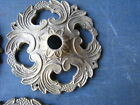 ONE  old Antique Brass Cabinet Door Knob  Back Plates  Decorative