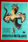 ELENA  HER MEN INGRID BERGMAN FRENCH 1956 JEAN RENOIR RARE EXYU MOVIE POSTER