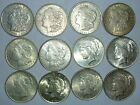 12 Silver Dollars 5 1921 Morgan 1 1921 D Morgan 6 1922 Peace