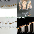 Wholesale Lots Small Clear Glass Bottles 05ml 60ml Empty Vials with Cork