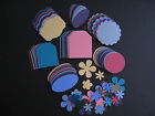 120pc RICH REGAL Stampin Up Cardstock Punch Tags Flowers Style B