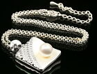 New trends crystal white pearl beads square pendant silver plated necklace S55