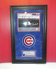 Ron Santo Autograph Mounted Memories Framed COA Chicago Cubs Hall of Fame