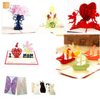 3D Pop Up Cards Happy Birthday Wedding Anniversary Greeting Cards Invitations