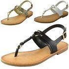 Soda Womens Thong Ankle Strap Sandals T Strap Slingback Gladiator Flat Shoes