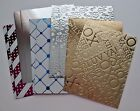 10 Premium Quality Metallic Cardstock A2 Card Making Front Layers Topper U PICK