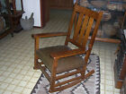 Arts  Crafts Era Gustav Stickley Rocking Chair with Gustav Stickley decal