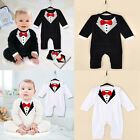 US Baby Boy Formal Suit Party Wedding Tuxedo Gentleman Romper Jumpsuit Outfit