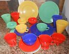 Anchor Hocking Fire King Rainbow Ware Mixed Lot 25 Pieces Primary Colors
