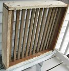 WOODEN SLOTTED HERB DRYING RACK/UTILITARIAN 4 SIDED W/WHITE PAINT ON 3 SIDES
