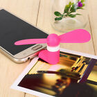 USB Fan Portable Travel Mini Micro Android Smart PHONG Samsung S7 S6 S5 HTC Pink