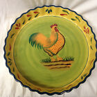 BAUM BROTHERS STYLE EYES PROVENCE ROOSTER COLLECTION LARGE ROUND DISH 14 1/4