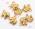 10 Pcs Antique Gold Thailand Elephant Charm Pendant Findings Jewelry Making 12mm