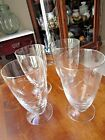 Vintage Footed Tumblers etched cut crystal glass Ice Tea/Water Glasses set of  4