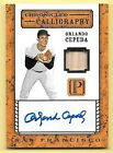2016 Pantheon Chronicled Calligraphy Orlando Cepeda Bat Relic Autograph #81 99
