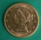 1881 Liberty Head $5 Gold Coin AU Almost Uncirculated Type Coin Half Eagle