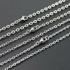 one dozen 12pcs Stainless steel Joint Oval Chain Women necklace Silvr  2mm 20''