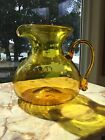 Vintage Blenko Art Glass Pitcher Original Sticker