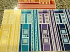 CREATIVE MEMORIES LOT OF JUMBO GREAT LENGTHS STICKERS BORDERS MULTIBLE COLORS