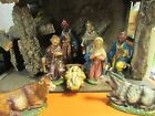 LARGE Vintage Nativity Creche ITALY Stable Manger Nativity MUSICAL