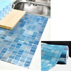 Self Adhesive Aluminum Foil Tile Anti Oil Mosaic Wall Papers Sticker Kitchen NEW