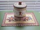 Linda Spivey Hearts  Stars Large 8 Lidded Ceramic Canister  Place Mat