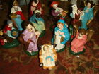 11 Pc Vintage JAPAN Nativity Creche Partial Set FREE SHIP