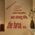 Star Wars A Long Time Ago Personalized Jedi Wall Quotes Stickers Kids decals