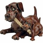 Pets With Personality Chocolate Labrador Retriever and Pup Figurine 725L New