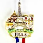 Paris France Eiffel Tower Kurt Adler Glass Christmas Ornament T40 NEW