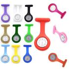 Jelly Colors Silicone Case Nurse Medical Doctor Watch Brooch Tunic Watches New Q