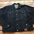 90s VTG GUESS JEANS JACKET Trucker 4XL Made USA Hip Hop Grunge ASAP XXXL Black