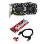 X6 MSI GAMING Radeon RX 470 ARMOR 8G OC /w X6 Riser Cards Adapter Cable Mining
