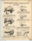 1932 PAPER AD Keystone Mail Plane Toy Lone Eagle Structo Army Tank Pull Toys