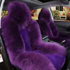1pc Car Genuine Australian Sheepskin Front Seat Cover Long Wool Fur Multi-color