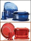 TUPPERWARE TUPPERWAVE 7 Pc MICROWAVE STACK COOKER INDIGO or RED U PICK NEW