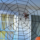 Giant Halloween Horror Party Black Rope Spider Web Outdoor Decoration