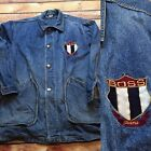 90s VTG BOSS JEANS Denim CHORE Jacket Button XL HIP HOP Made USA Urban Long