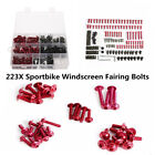 223 Pcs/Set Motorcycle Sportbike Windscreen Fairing Bolts Fastener Clips Screws