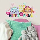 SKYE  EVEREST Paw Patrol girl pups wall stickers 8 decals Be Happy Be Free dogs