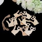 10Pcs Wooden Kitten Cat Shape Craft Hanging Gift Tag Wedding Decor Embellishment