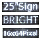 Led Sign 25x6.5red Green Blue White Amber Scrolling Programmable Message Board