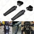 For Suzuki V-Strom 650 Black Anti-Vibrate Engine Guard Foot Pegs w/ Clamps